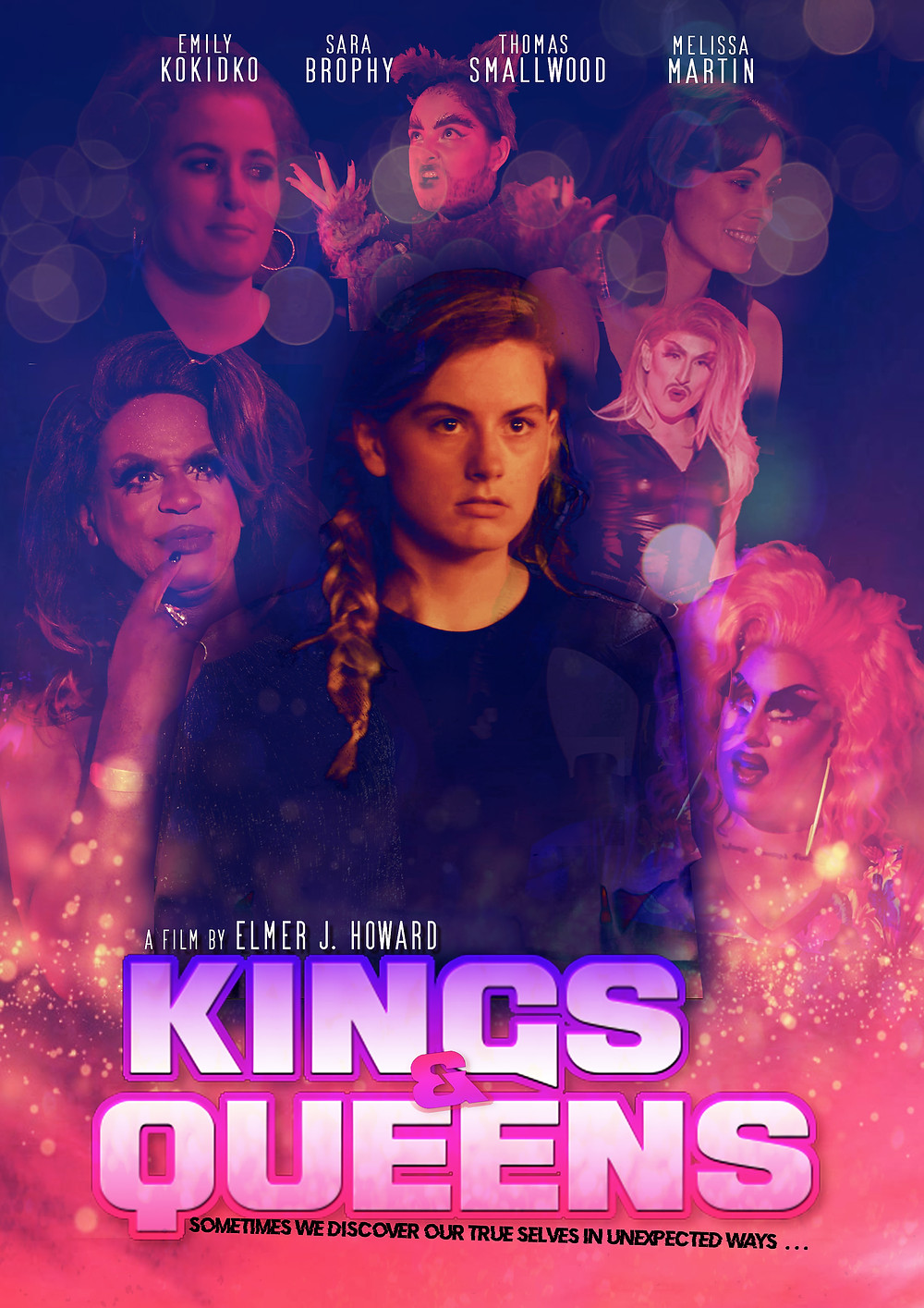 A colorful poster featuring main character Lucy at the center, surrounded by the supporting cast including the film's various drag queen characters.