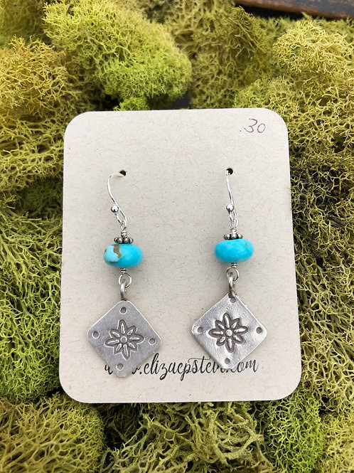 Stamped Sterling & Turquoise