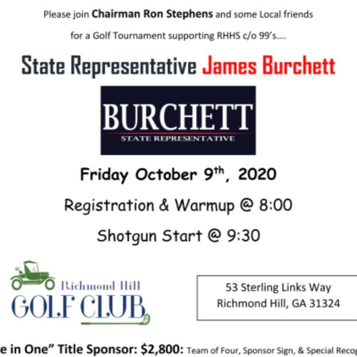 Golf Tournament for House Rep. James Burchett