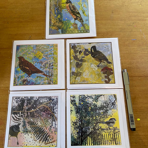 Bird Cards - Five
