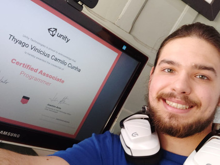 Alunos de Programação em Unity® da GAMEscola® conquistam certificação internacional!