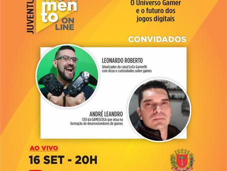 Live no Youtube com a Secretaria Municipal do Esporte, Lazer e Juventude #MovimentoOnLine