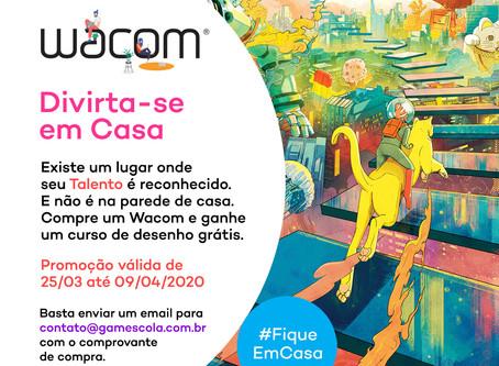 Wacom e GAMEscola trazem curso gratuito de desenho.