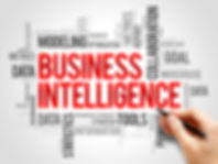 Business intelligence word cloud collage