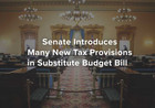 Senate Introduces Many New Tax Provisions in Substitute Budget Bill