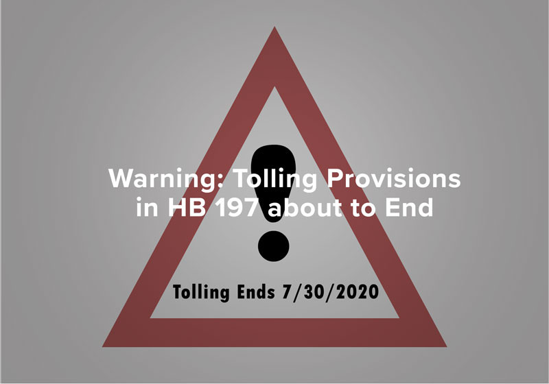 Warning: Tolling Provisions in HB 197 about to End