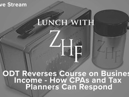 Live Stream: ODT Reverses Course on Business Income - How CPAs and Tax Planners Can Respond