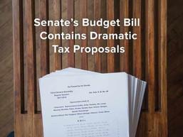 Senate's Budget Bill Contains Dramatic Tax Proposals