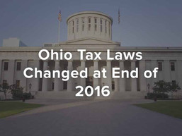 Ohio Tax Laws Changed at End of 2016