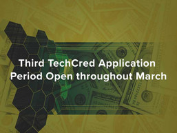 Third TechCred Application Period Open throughout March
