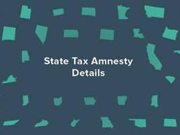 State Tax Amnesty Details