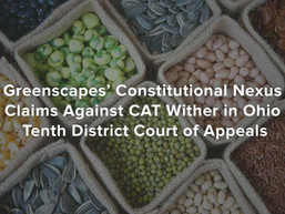 Greenscapes' Constitutional Nexus Claims Against CAT Wither in Ohio Tenth District Court of Appe