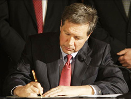 GOVERNOR SIGNS BUDGET BILL AFTER FORTY FOUR VETOES