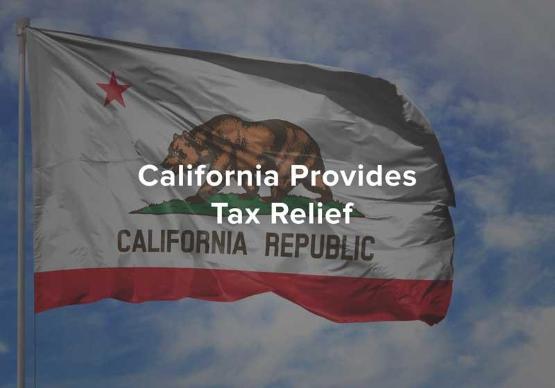 California Provides Tax Relief