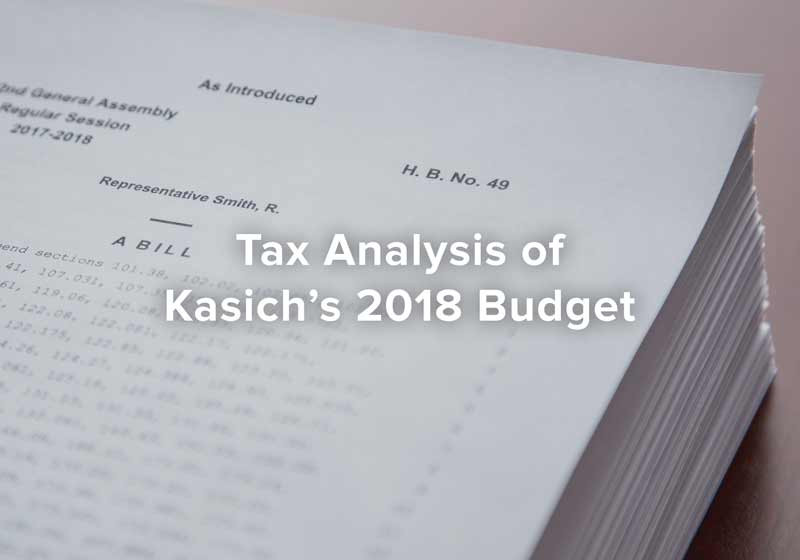 Tax Analysis of Kasich's 2018 Budget