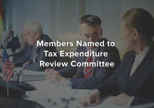 Members Named to Tax Expenditure Review Committee