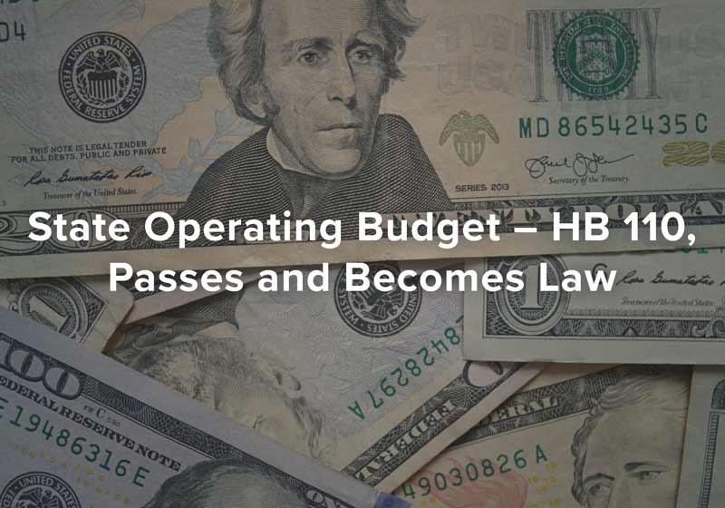 Ohio Senate Passes State Operating Budget - HB 110