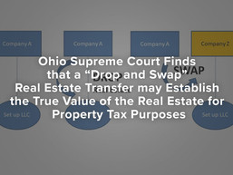 "Ohio Supreme Court Finds that a ""Drop and Swap"" Real Estate Transfer may Establish the True Value"