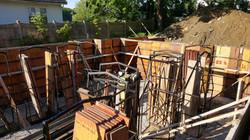 Foundation wall construction begins!