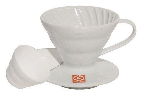 Coador de café Hario V60 - 02 cerâmico branco