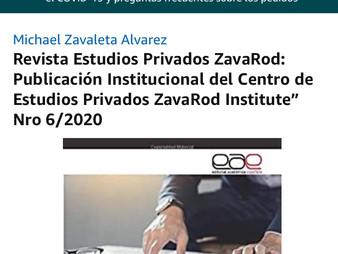Revista Estudios Privados ZavaRod Nº 6/2020: Bases para escribir en Nº 7 y futuras