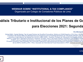 Tax and Institutional Analysis of Government Plans for Elections 2021: Second Round