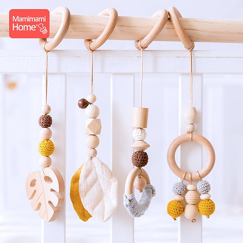 Food Grade Wooden Teether Toys