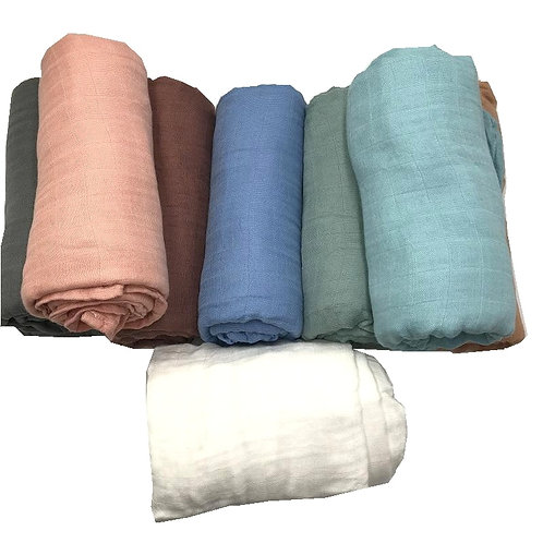 Soft Muslin Baby Blanket Blankets/Swaddle for Newborn Bedding