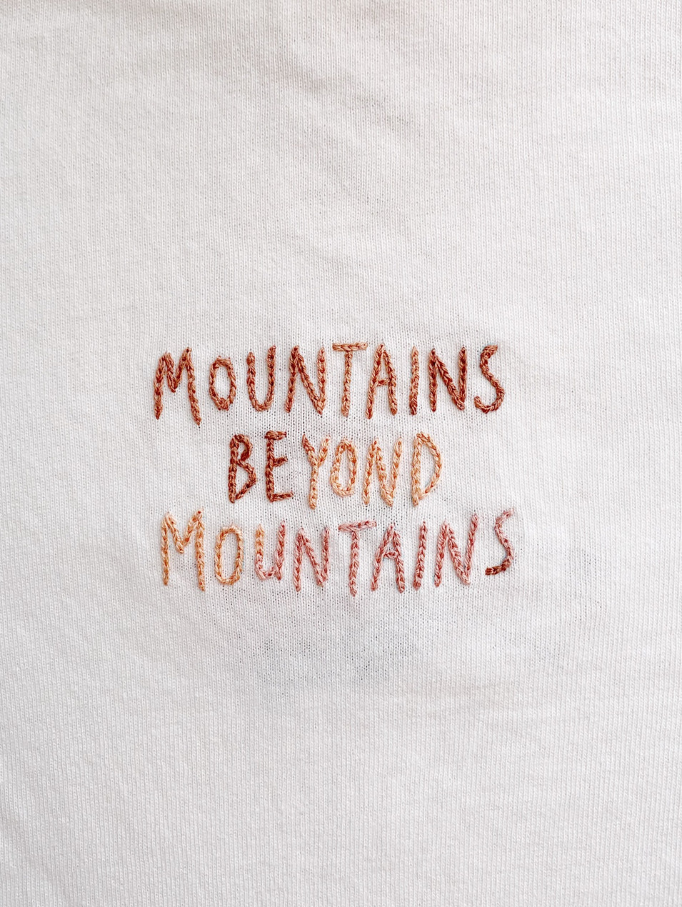 Mountains Embroidery / 2020