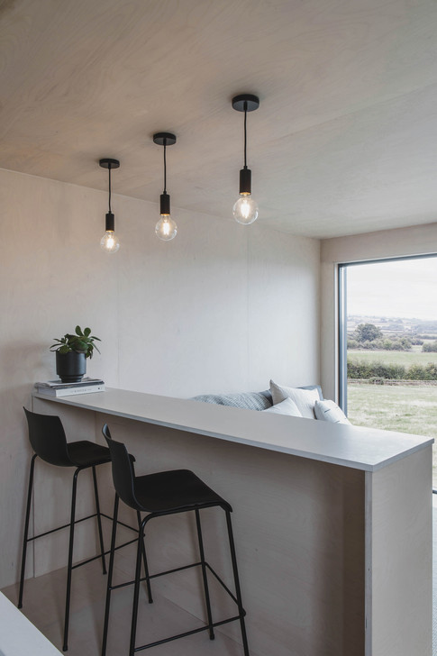 Ayr_Micro_Cabin_Interior_Breakfast_Bar_with_View