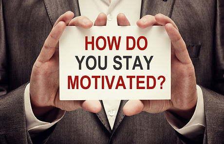 How do you stay Motivated? Message text
