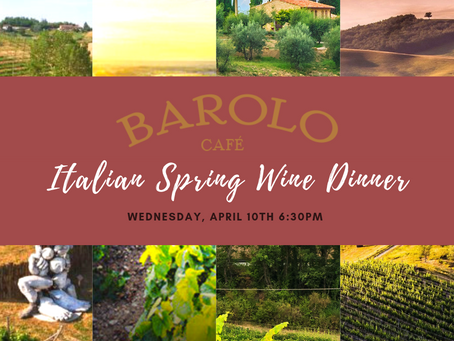 Italian Spring Wine Dinner Menu Announced