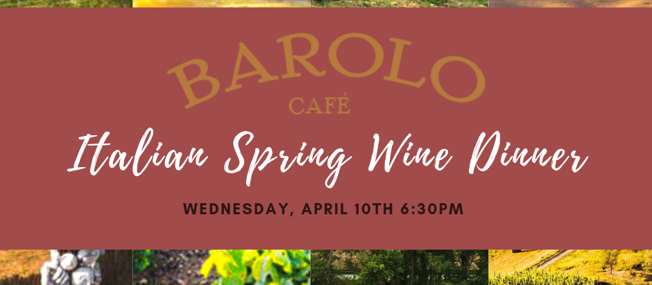 Italian Spring Wine Dinner Menu Announced