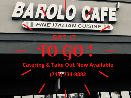 COVID Update: We Are Open - Family Style Catering, Full-Menu Take Out & Bottled Wine To Go Offered