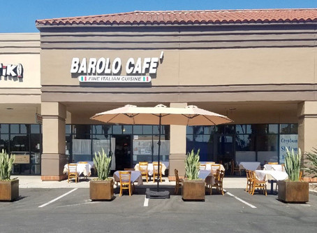 Al Fresco Dining Is Now Available At Barolo Cafe!