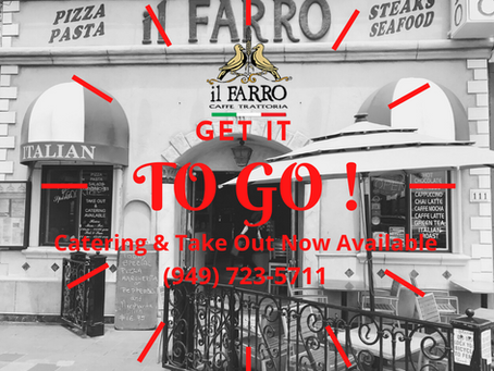 COVID-19 UPDATE: WE ARE OPEN FOR TAKE OUT, DELIVERY & CATERING