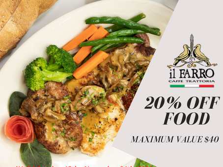 20% OFF-SEASON VIP SPECIAL OFFER
