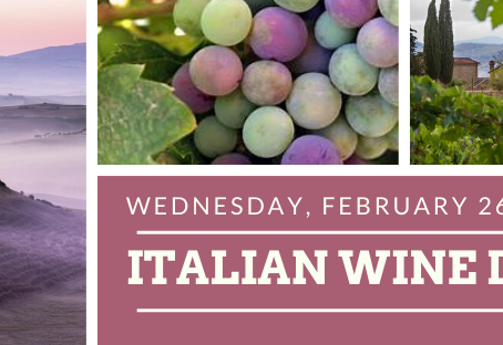 February 26th Italian Wine Dinner Announced