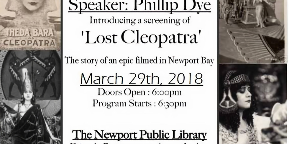 Presentation and Screening 'Lost Cleopatra'