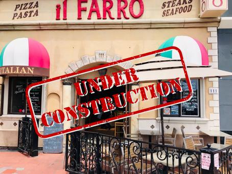 We Are Remodeling Il Farro Caffe Trattoria!