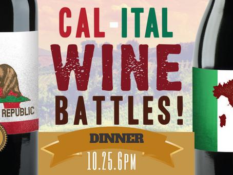 Cal-Ital Wine Dinner Tickets 10-25!
