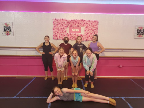 Dance Friends <3 Miss Ashlee working with competition students on technique at dance camp!