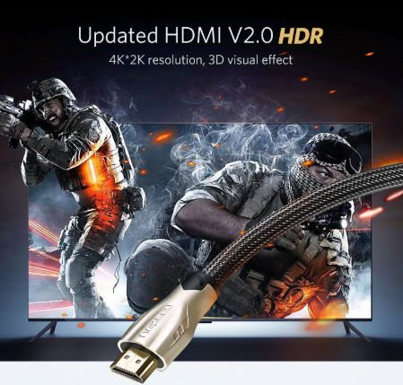 Ugreen HDMI Cable 4K HDMI to HDMI 2.0 Cable Cord for PS4 Apple TV 4K Splitter