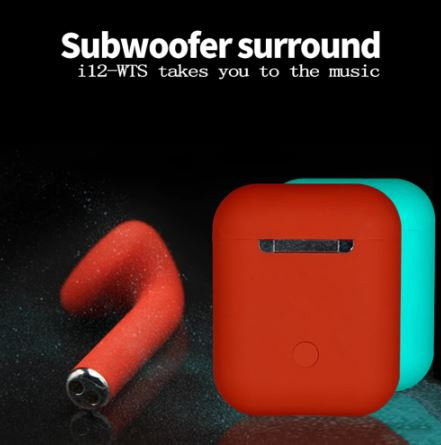 i12 tws Matte Bluetooth Earphone Wireless Earbuds