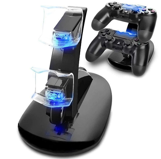 LED Dual USB PS4 Charging Stand Station