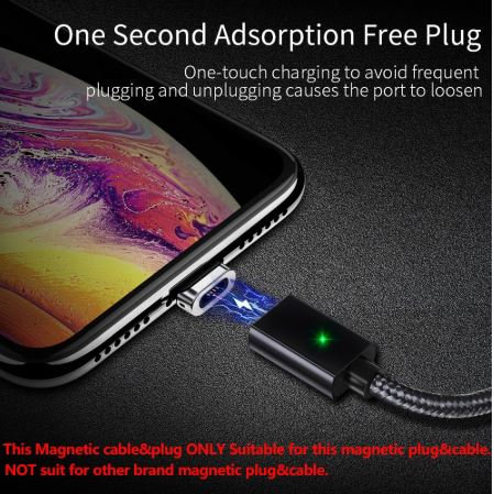 Magnetic Micro USB Cable For iPhone Samsung Fast Charging Dat