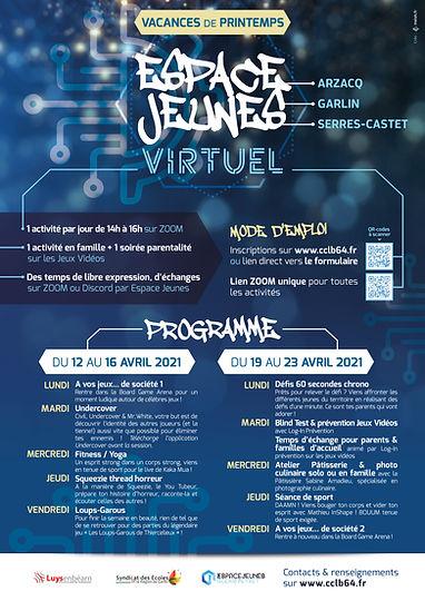Affiche - Espace Jeunes Virtuel - Vacanc
