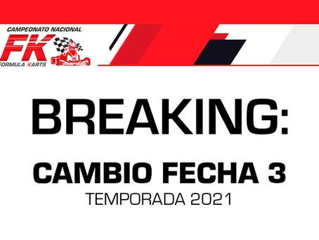 Breaking: Cambio de fecha 3era ronda temporada 2021
