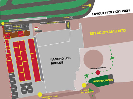 Mapa de instalaciones Kartodrómo Querétaro Fecha 1