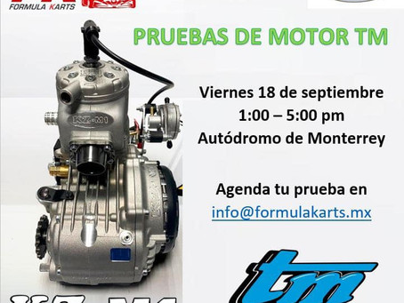 Pruebas de Motor TM en Autódromo Monterrey